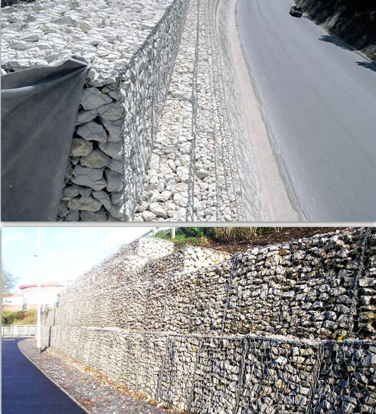 hot dipped galvanized gabion boxes