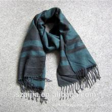 Fashion mens Acrylic geometric printed scarf