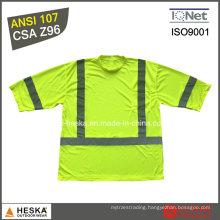 High Visibility Safety Short Sleeve Reflective T Shirt