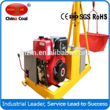 1 tons construction mini portable diesel crane with 25m lifting height