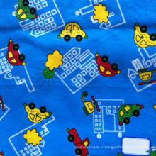 Tissu de flanelle imprimé en coton pour enfants