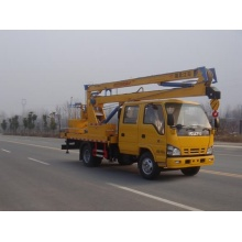 ISUZU electric truck trailer boom lift for sale