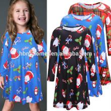 Preço de fábrica de inverno e outono roupas femininas mãe e criança vestido vestido de traje de natal
