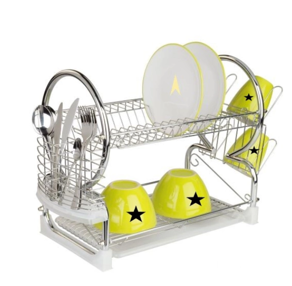 Metal Dish Rack with PE Coated