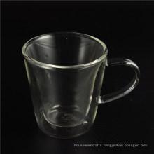Wholesale Borosilicate Double Wall Glass with Handle