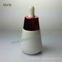Brand Unisex botellas de aceite de vidrio de ópalo blanco