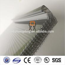 Impermeable 20 mm gris u-lock hoja de policarbonato