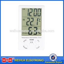 Termómetro digital con humedad incorporado y sensor externo Temperatura y humedad Reloj TA308