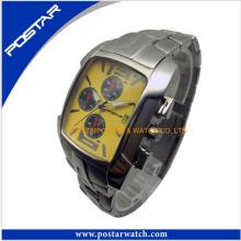 Reloj de moda de hombre con banda de acero inoxidable