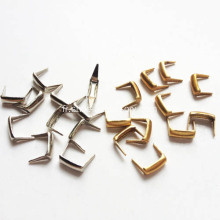 Brass Studs 2 Prongs 6x2mm