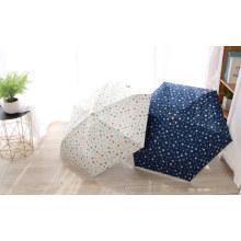 Full Printing Flower 5 Fold Mini Gift UV Protection Umbrella