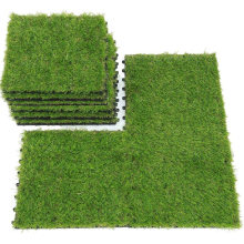 Wholesale DIY Artificial Grass Tiles Plastic Base Interlocking Deck Tiles