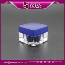 J050 square shape acrylic cosmetic cream jar