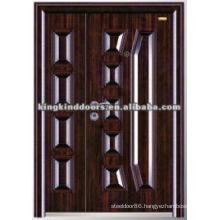 Customized Double Steel Door KKD-569B For One and Half Door Leaf/Mother and Son Door Design
