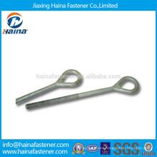 High quality Zinc plated carbon steel eye bolt with machine thread