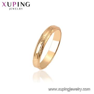 15451 Xuping 18k enchapada en oro con los últimos diseños de anillo de moda sin piedra para mujer
