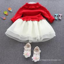 Vestidos de natal crianças blusas vermelhas saias para as crianças XMAS DO BEBÊ CAMISOLA VESTIDOS VESTIDOS VESTIDOS BOAS QUALIDADE
