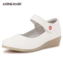 holy white genuine leather round toe nursing hospital shoes women