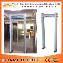 Six Zone Cylinder-Shaped Walk Through Metal Detector Gate