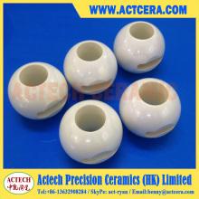 Modificado para requisitos particulares de superficies mecanizado pulido Zirconia cerámica válvulas de bola
