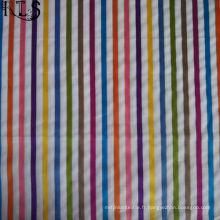 Le tissu tissé de fil de popeline de coton a teint pour des chemises de vêtements / Dress Rls60-15po