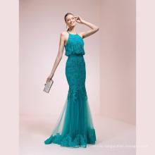 Lace Blue Memraid High Quality Evening Dress