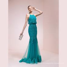 Кружева Синий Memraid Высокое Качество Вечернее Платье