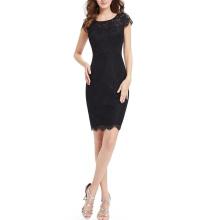 Черный Сексуальный Мода Лето Женщины Платье