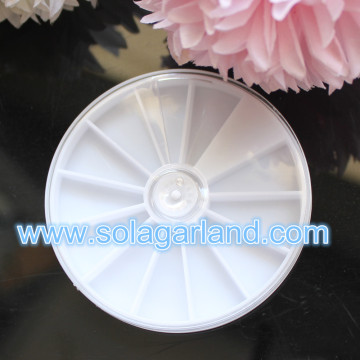 Round Plastic Storage Box White Plastic Jewelry Container Box With 12 Slot