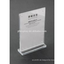 Gute Qualität Acryl Menü Display Halter