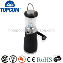 Dynamo 4 LED mini led crank lantern with a hook