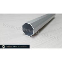 Анодированный серебристый восьмиугольный карниз для штор из алюминиевого профиля