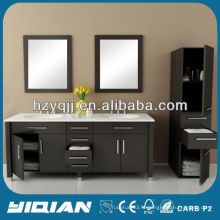Современная мебель большего размера с двумя бассейнами и зеркалом под ванной Ванная комната Шкаф для ванной комнаты MDF