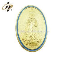 Plaques de religion en or émail en métal sur mesure promotionnelles