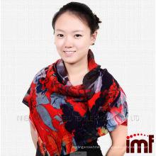 2014 new fashion scarf digital printing wool shawl 100% wool shawl