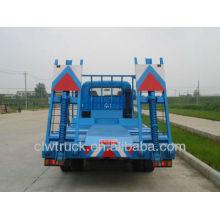 Venta caliente dongfeng camión de transporte plano, camión de transporte de excavadora