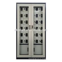 Material de aço montado completo 30 portas móvel armários de estação de carga de telefone celular