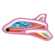 Kids Melamine Airplane Shaped Dinner Plate (PT180)