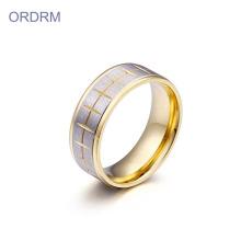 Ring aus rostfreiem Edelstahl mit zwei Tönen