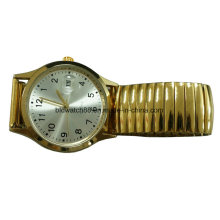 Fördernde analoge Quarz-Gummiband-Armbanduhr mit Japan Movt