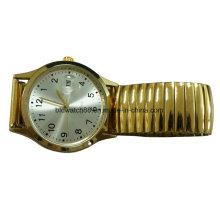 Relógio de pulso analógico relativo à promoção da faixa elástica de quartzo com Japão Movt