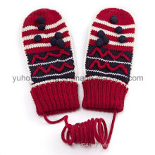 Fashion Warm Knitted Acrylic Jacquard Gloves & Mittens