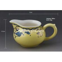 """Sowbread Flower"" Yellow Glaze Porcelain Pitcher, 200 cc / lanzador"