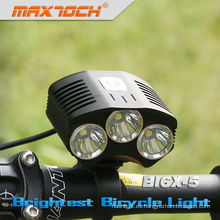 Maximoch BI6X-5 3000LM 4 * 18650 Pack inteligente LED bicicleta freno luz