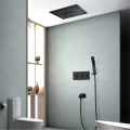 Ceiling Bathroom Black LED Shower Rain Faucet Set