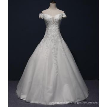 с плеча кружева бисером свадебное платье
