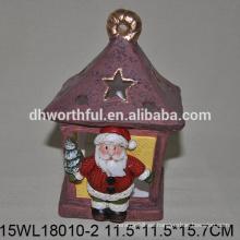2016 nuevo estilo de cerámica adornos navideños de pie santa claus