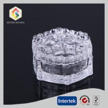 Snowflake clear glass jewel box