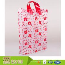 Alibaba por encargo bolsa de plástico transparente duradera y reciclable pe con asa