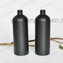 500ml Botella de aluminio cosmético negro mate para el perfume de la fragancia (arenado)